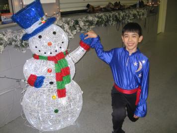 Pose #2 with Mr. Snowman.