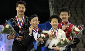 Vincent Zhou at the Junior Men Award Ceremony