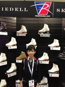 Vincent at the Riedell booth at the U.S. Figure Skating Fanfest