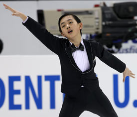 Vincent Zhou preforming his winning free skate program casablanca