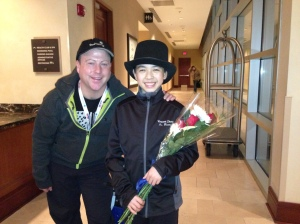 Vincent Zhou with coach Justin Dillon