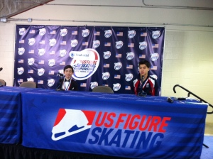 Vincent Zhou and Shotaro Omori at the press conference