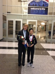 Vincent Zhou with coach Tammy Gambill