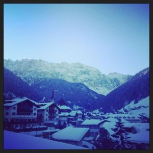 Val Gardena in snow