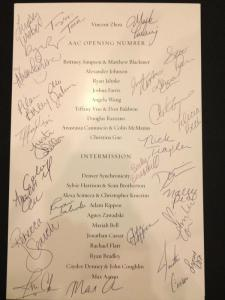 Photo courtesy of U.S. Figure Skating - A signed 2013 ACC Athlete Gala program