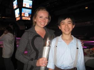 Vincent Zhou with Olympian Rachael Flatt