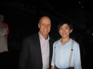 Vincent Zhou with figure skating icon Scott Hamilton
