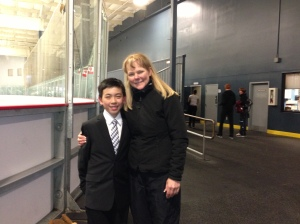 Vincent with coach Tammy Gambill