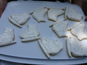 The skate cookies made by Tyler Pierce in her cooking class