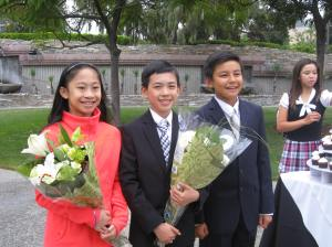 Vincent with Amy Lin and Patrick Tran