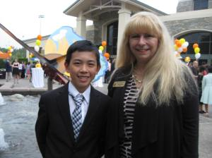 Vincent wit Mrs. ???