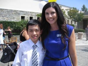 Vincent with Mrs. Cabajal(?)