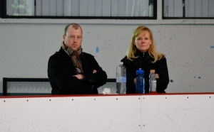 Their faces say it all: Focus, determination, focus, concentration, and focus. Coach Tammy Gambill and Justin Dillon look on as I perform my free skate.