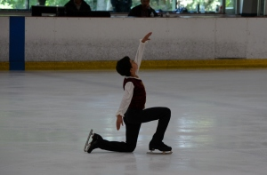 My starting position in the free skate