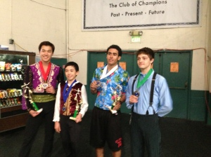 Tammy's senior men who competed at LA Open: Shotaro Omori, Vincent Zhou, Philip Warren, and Brendan Kerry.