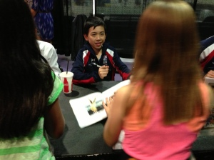 With fans at Meet & Greet session