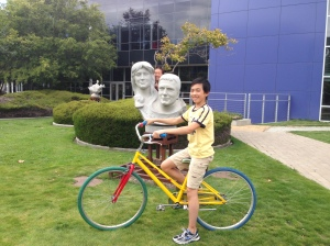 Lots of statues on Google campus