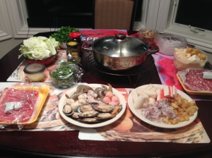 Our family tradition -- hot pot for the Christmas Eve