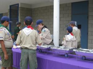 Boy scouts at work.