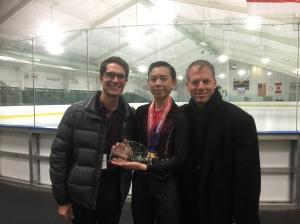Vincent with Coach Tom and Drew Meekins