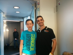 Vincent with Javier Fernandez