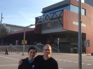 Me with Coach Tom outside the competition arena