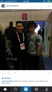 Vincent with Shoma Uno