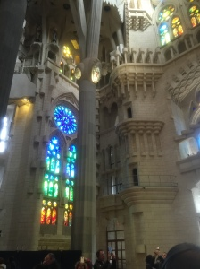 An inside view of Sagrada Familia
