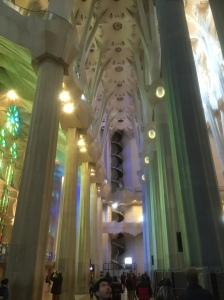 Another inside view of Sagrada Familia