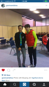 Vincent with Boyang Jin