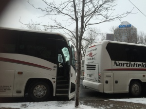 Shuttle between the rinks and the official hotel