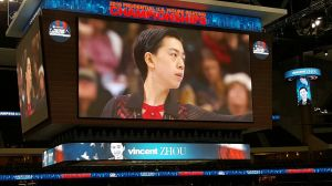 Vincent competing the freeskate