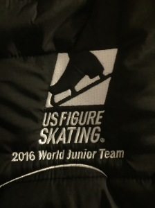 The front of my World Junior Team jacket