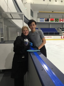 At practice session with my coach Tammy Gambill