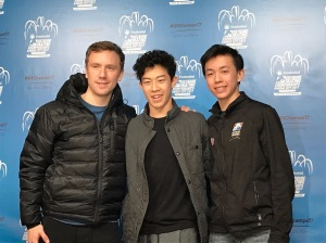 Press conference after the short program